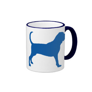 Bloodhound (darker blue) ringer mug
