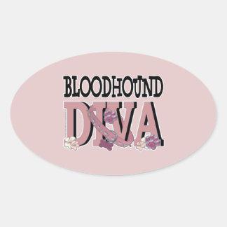 Bloodhound DIVA Oval Sticker