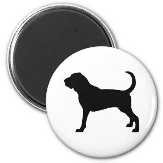 Bloodhound Dog 2 Inch Round Magnet