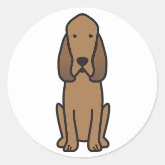 Bloodhound Dog Cartoon Classic Round Sticker
