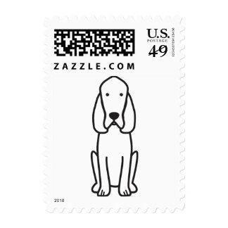 Bloodhound Dog Cartoon Stamps