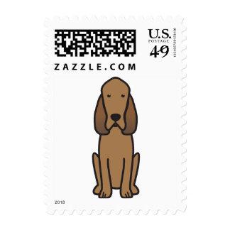 Bloodhound Dog Cartoon Stamp
