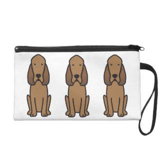 Bloodhound Dog Cartoon Wristlet Purse