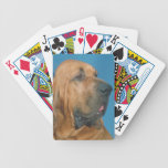 Bloodhound Dog Playing Cards