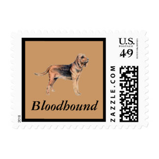 Bloodhound Dog Postage Stamp for letters
