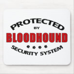 Bloodhound Dog Security Mouse Pads