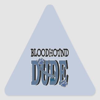 Bloodhound DUDE Triangle Sticker
