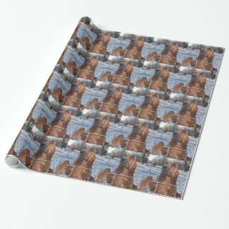 Bloodhound Face Wrapping Paper