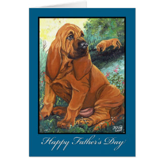 Bloodhound Father's Day Card
