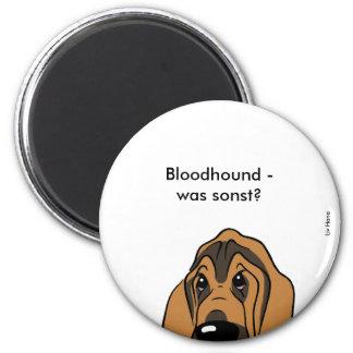 Bloodhound head 2 inch round magnet