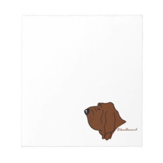 Bloodhound head silhouette notepad