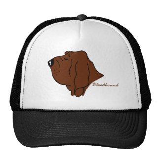 Bloodhound head silhouette trucker hat