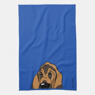 Bloodhound head towel