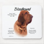 Bloodhound History Design Mouse Pad