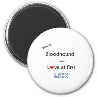 Bloodhound Lick Design 2 Inch Round Magnet