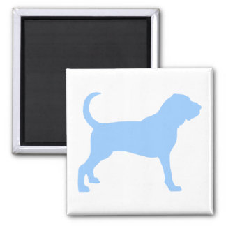Bloodhound (light blue) 2 inch square magnet