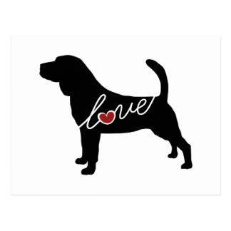 Bloodhound Love Postcard