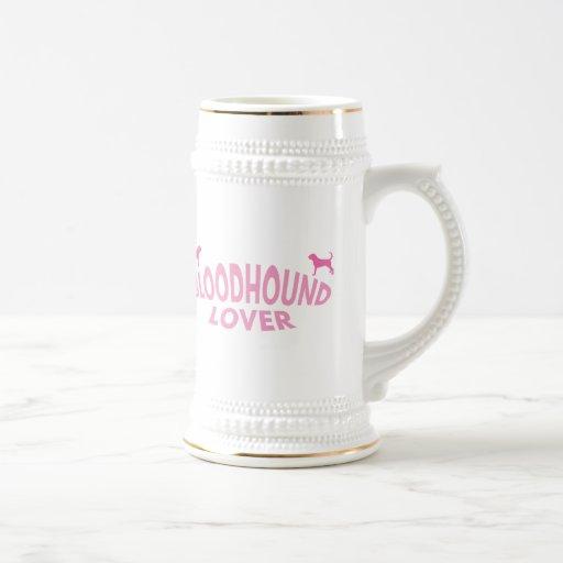 Bloodhound Lover (pink) 18 Oz Beer Stein