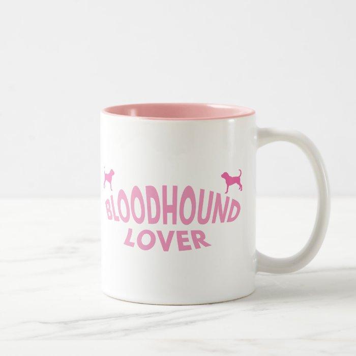 Bloodhound Lover (pink) Two-Tone Coffee Mug