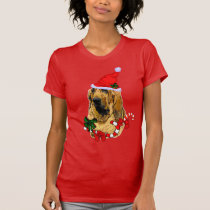 Bloodhound Lovers Christmas Merry T-Shirt