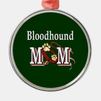 Bloodhound Mom Metal Ornament