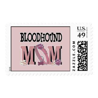 Bloodhound MOM Postage Stamp