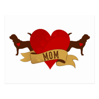 Bloodhound Mom [Tattoo style] Postcard