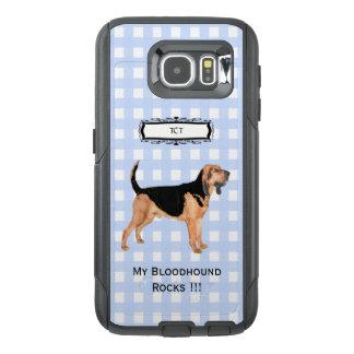 Bloodhound, Monogramed Blue Gingham S6 OtterBox Samsung Galaxy S6 Case