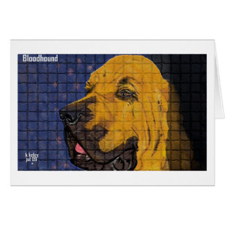 Bloodhound Mosaic notecard