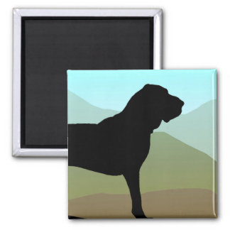 Bloodhound Mountains 2 Inch Square Magnet