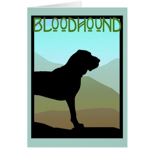 Bloodhound Mountains Card