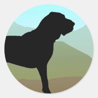 Bloodhound Mountains Classic Round Sticker