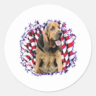 Bloodhound Patriot Classic Round Sticker
