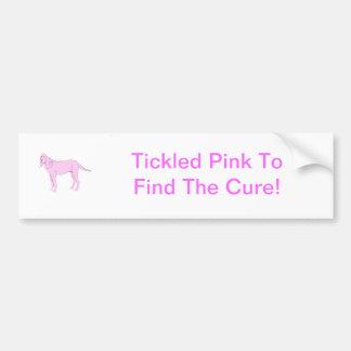 Bloodhound Pink Dog Car Bumper Sticker