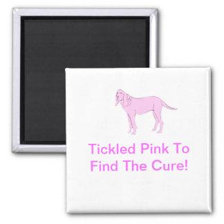 Bloodhound Pink Dog Magnet