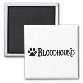 Bloodhound (pirate style w/ pawprint) 2 inch square magnet