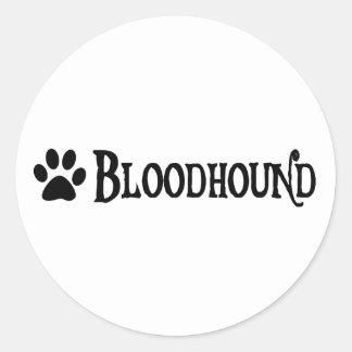 Bloodhound (pirate style w/ pawprint) classic round sticker