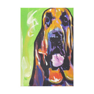 Bloodhound Pop Dog Art on Wrapped Canvas Canvas Print