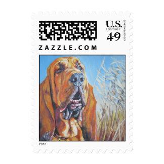 Bloodhound Postage Stamp