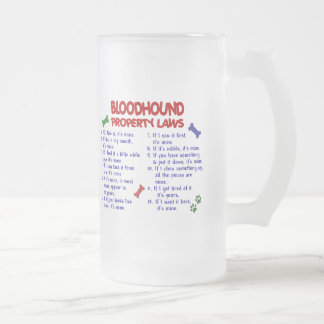 BLOODHOUND Property Laws 2 Frosted Glass Beer Mug