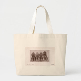 Bloodhound Puppies Large Tote Bag