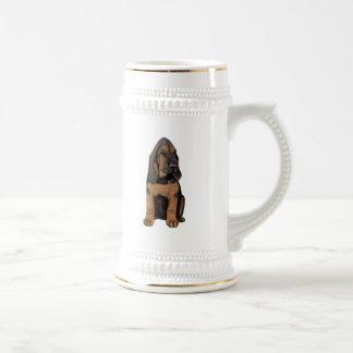 Bloodhound Puppy Beer Stein