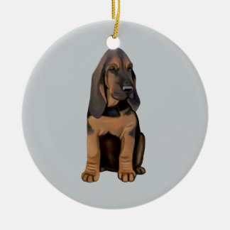 Bloodhound Puppy Christmas Tree Ornament