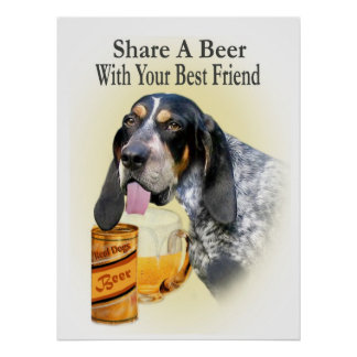 Bloodhound Share A beer Poster