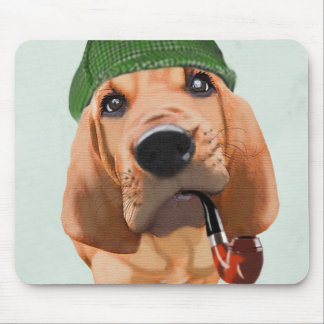 Bloodhound Sherlock Holmes Mouse Pad