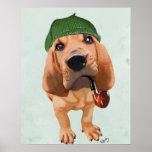 Bloodhound Sherlock Holmes Poster