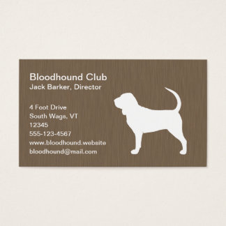 Bloodhound Silhouette Business Card