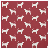 Bloodhound Silhouettes Pattern Fabric