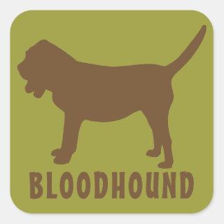 Bloodhound Square Sticker