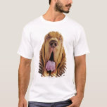 Bloodhound (St. Hubert Hound) with closed eyes, T-Shirt